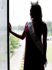 Justine Ker poses for a portrait at the Miss Louisiana