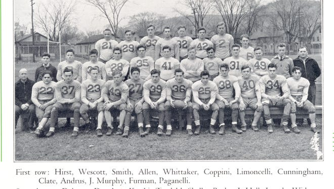 The 1935 Elmira High football team, a combined squad of Elmira Free Academy and Elmira Southside schools, played in the 1935 Coconut Bowl in Miami.
