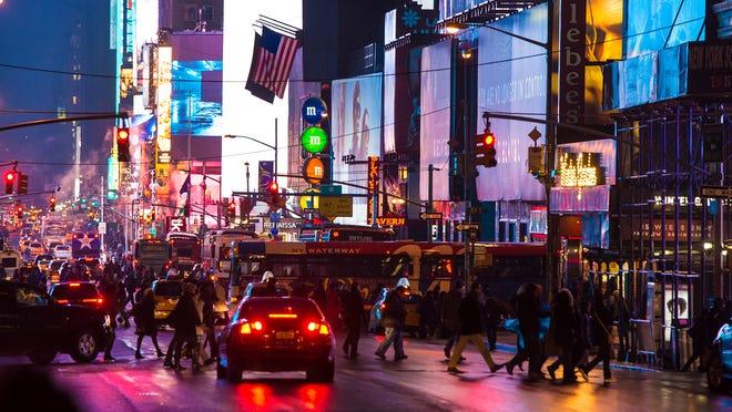 7th Avenue in New York City.