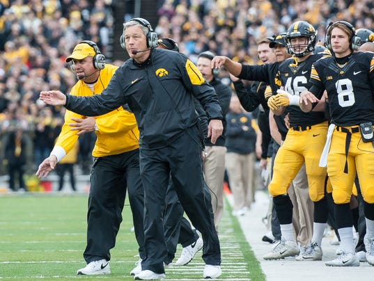 NCAA Football: Maryland at Iowa