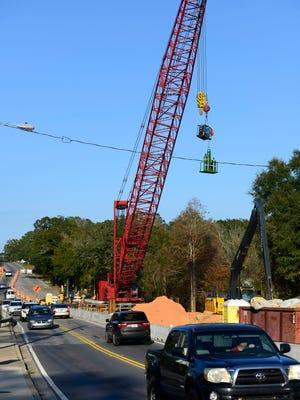 Construction continues on 12th Avenue near the Bayou Texar bridge.
