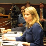 Louisiana Commissioner of Administration Kristy Nichols, the governor's chief budget adviser, outlines Gov. Bobby Jindal's budget proposal to lawmakers, Friday in Baton Rouge.