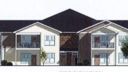 A new apartment development proposed for Cedarburg would feature a dozen two-story buildings.