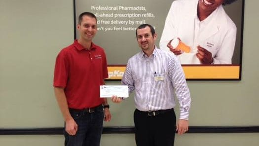 South Park Middle School was awarded a $250 grant from the Shopko Foundation\'s Community Charitable Grant program. Mr. Wiebel, Dean of Students, accepted the check at the Shopko in Oshkosh.