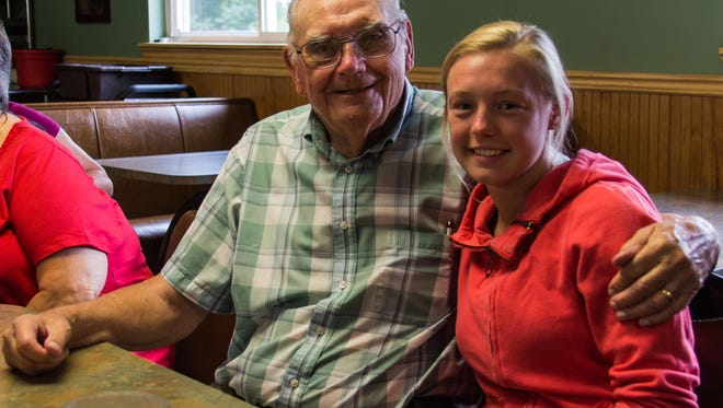 Don Chalfant, founder of the Haven of Rest, and his great-granddaughter, Erika Bradshaw, in 2014.