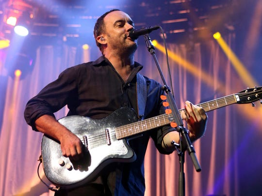 Owen Sweeney/Invision/AP Dave Matthews of The Dave Matthews Band performs onstage at the Susquehanna Bank Center in Camden, N.J., in June of 2013. The Dave Matthews Band along with Justin Timberlake, Pharrell Williams and Ariana Grande will be among the performers at a free unity concert set for Sept. 24 in Charlottesville. In this June 28, 2013, file photo, Dave Matthews of The Dave Matthews Band performs onstage at the Susquehanna Bank Center in Camden, N.J. The Dave Matthews Band, Justin Timberlake, Pharrell Williams and Ariana Grande will be among the performers at a free unity concert in Charlottesville on Sept. 24, 2017.