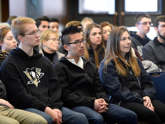 About 50 community members came to Lebanon Valley College