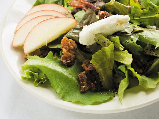 The dressing is a maple shallot vinaigrette on the bistro salad was exceptional.