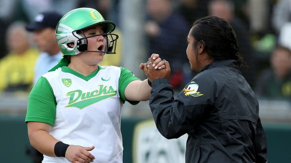 Oregon's Hailey Decker, from McNary, will compete in the NCAA super regionals.
