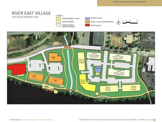 Above is the site development plan for Wausau's east