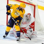 Predators forward Eric Nystrom had 40 points in 185 games for the team.