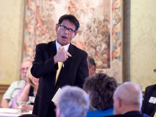 Lebanon councilman R. Anthony 'Tony' Matula voices his concerns during a CLA luncheon. The Business Improvement District Board met to update Community of Lebanon Association members at a luncheon, Wednesday, May 25, held at Lebanon Country Club.