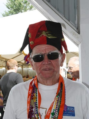 Harry Holtkamp, 81, of Fort Wright dressed up for the Mardi Gras theme of a previous year's Kenton County Senior Picnic.