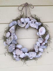 Oyster shell wreath.