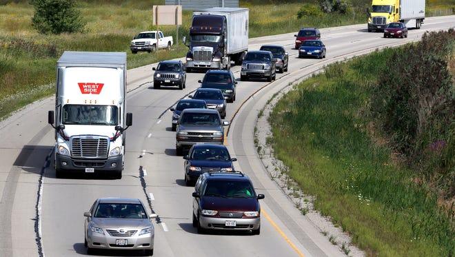 Drivers travel on U.S. 41.
