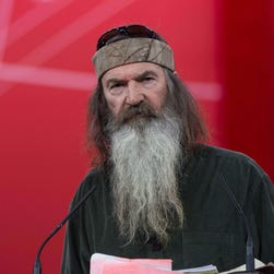 Phil Robertson speaks at the annual Conservative Political Action Conference (CPAC) at National Harbor, Maryland, outside Washington, DC on Feb. 27, 2015.