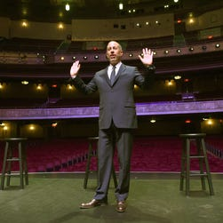 Jerry Seinfeld poses during press conference at the Beacon Theatre on Dec. 1, 2015 in New York.