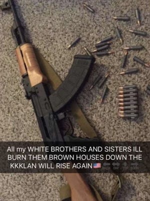 Two Center Hill High School students in DeSoto County were arrested for allegedly posting this threat on Snapchat.