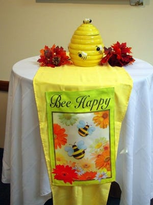 "This handsome Beehive Trophy will be awarded the winners of this year's ""Bee For Books."" (M. Rosenberry)"