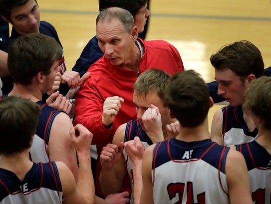 Appleton East interim basketball coach Steve Coenen