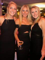 Glitzy ladies in black at Demoiselle Presentation Ball: Devon Sadosky, Elizabeth Padon, Elise Snider.