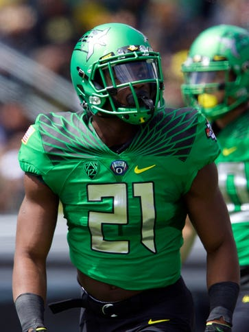 Oregon sophomore running back Royce Freeman