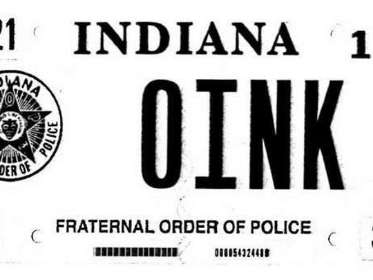 The vanity plate used by Rodney G. Vawter reads '0INK,' which he considers 'an ironic statement of pride in his profession,' according to a lawsuit against the BMV filed by Vawter in May 2013.