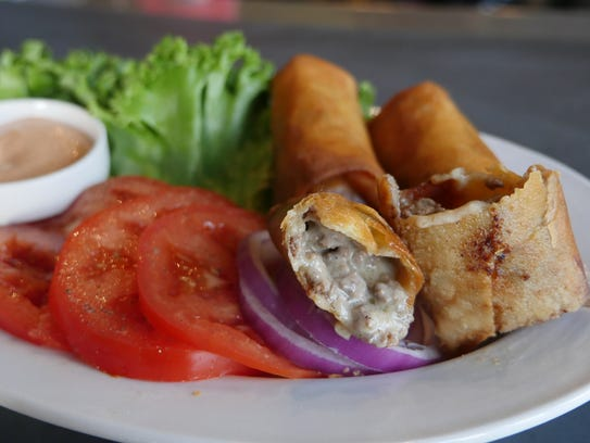 The cheeseburger spring rolls ($2.95 each) are a late-night