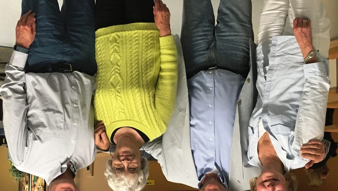 The FDL Yacht Club team took top honors in the Yellow Jackets division in the Fond du Lac Literacy Services Scrabble Bee on Nov. 5, 2015. Team members are, from left, Christine Carew, Tom Flader, Carol Meister and Philip Shepherd.
