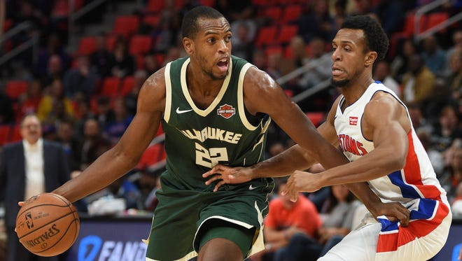 Khris Middleton has played in all 18 games for the Bucks so far this season.
