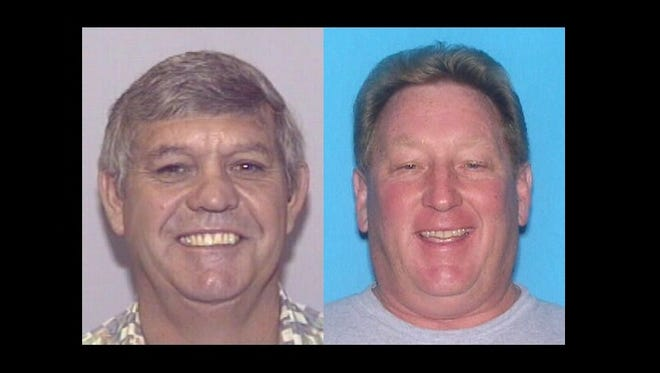 Ralph Ruth (left), 61, of Melbourne, and Donald Ray Babb (right), 58, of Merritt Island, each face a maximum of 20 years in federal prison. Sentencing is likely to take place early next year.