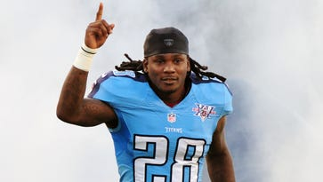 Titans running back Chris Johnson was a key part of Ray Flowers' RB-RB draft strategy in the first two rounds of his Oracle vs. Machine challenge.