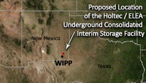 Proposed location of the Holtec/ELEA Underground COnsolidated Interim Storage Facility.