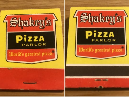 This mint condition matchbook from the San Angelo Shakey's Pizza Parlor could fetch up to $3 on sites like Ebay.com.