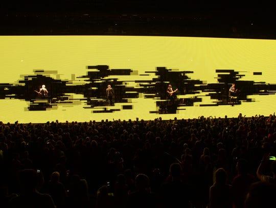 U2 perform onstage during the U2 iNNOCENCE + eXPERIENCE