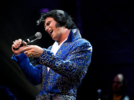 Diogo Light of Brazil performs in the Ultimate Elvis