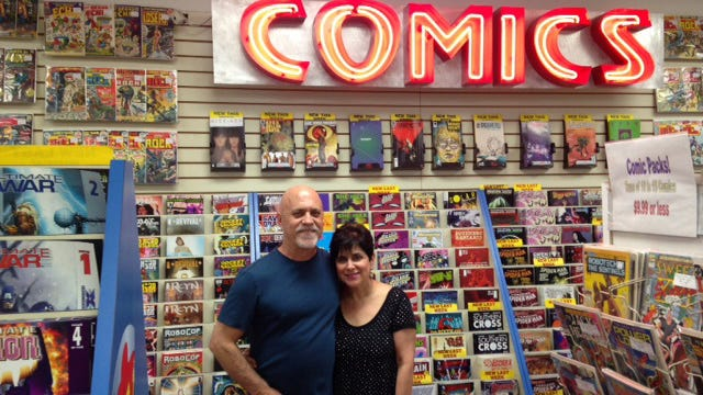 Alan and Marsha Giroux completed a successful Kickstarter campaign last week to cover relocation costs for All About Books and Comics.