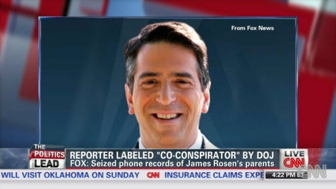 A 2013 screengrab from the CNN show The Lead with Jake Tapper features embattled FOX news reporter James Rosen in an Obama administration wire tapping case. Rosen left Fox in late 2017 and according to a new NPR report is being investigated for sexual harassment.