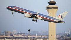 An American Airlines aircraft takes off from Dallas-Fort