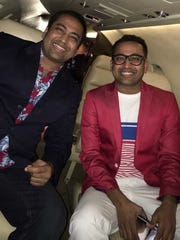 "Akash Patel, left, and his twin brother, Anand ""Happy"""