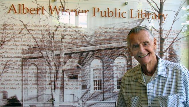 Carleton Carpenter in June, 2016, at the Albert Wisner Public Library., Warwick, N.Y.