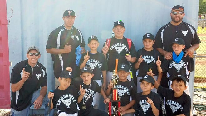 The Chihuahuas (minor boys) won the Classics, which was held in Bayard. Members of the team, not in order, include Adryk Albidrez, Michael Amador, Urijah Arrey, Dayton Bizzell, Noah Chavez, Cooper Herbon, Jaden Madrid, Keoni Martin, Kayden Parra and Brayden Trujillo. The team went 13-0 on the season.
