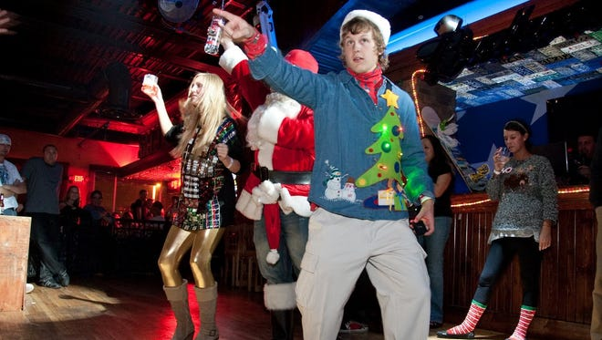 An ugly Christmas sweater party in Scottsdale in 2009.