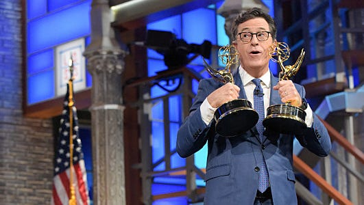 'Oh, Donald what have we here?' Colbert probably.