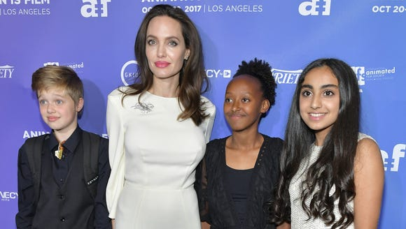 Angelina Jolie (second from left) attends the L.A.
