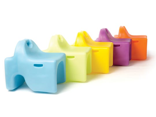 Vidget seating systems come in five sizes from toddler to adult and in 10 colors.