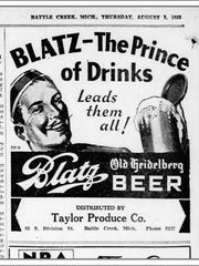 An ad from a 1933 edition of the Battle Creek Enquirer