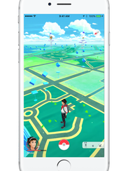 A screenshot of the map view in Pokemon Go.