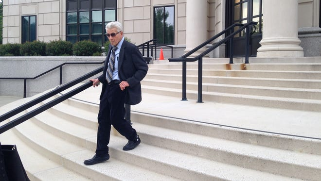 Dr. Alfred Ramirez, the former psychiatrist accused of illegally selling scripts for 10,900 pain pills in the Lower Hudson Valley, outside federal court in White Plains following a pre-trial hearing in May.