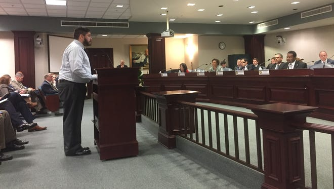 Matt Dauphin, an FSU grad student, explained to lawmakers many state employees don't join labor unions because they make poverty wages. State workers have gone 10 years without a pay raise.